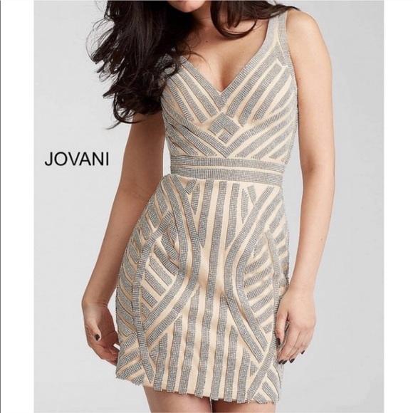 bbb25d89daa6 Jovani Dresses & Skirts - Jovani crystal embellished cocktail mini dress